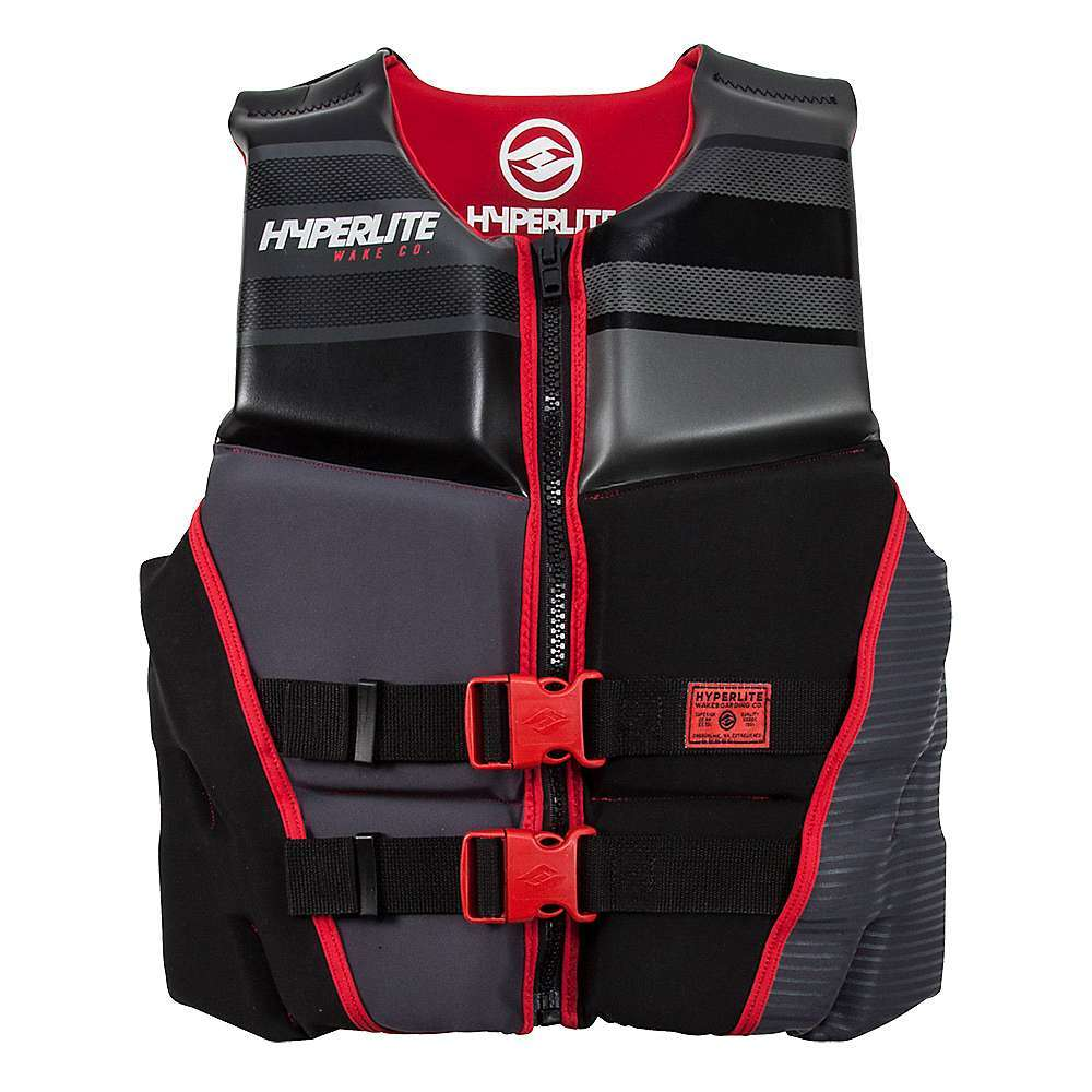 Features of the Hyperlite Men's Prime CGA Vest Segmented foam panels 2 Concealed 1.5in straps Superior drain-ability True flex Technology USCG approved type III personal flotation device - $79.99
