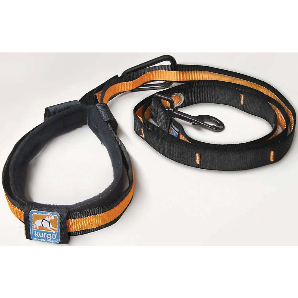 Features of the Kurgo Quantum Leash 6' leash or 3' training leash Courier strap (over the shoulder) or belt strap (around the waist) Double leash, for walking two dogs Provides comfort in any configuration due to the unique Floating Handle design Attach to any size post or tree without unhitching your dog PVC free - $24.95