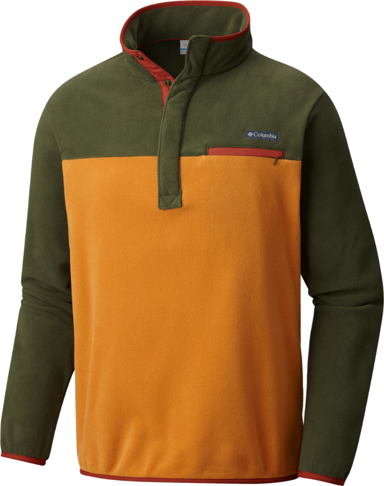 The men's half-zip Columbia Mountain Side fleece pullover offers supersoft polyester fleece that you'll love to hike or just hang out in. - $38.73