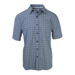 Purnell 4-Way Stretch Quick Dry Grey Plaid Mens Shirt - $75.00