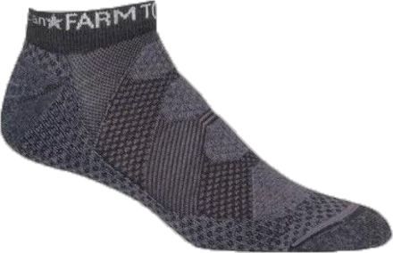 Advanced sport socks for the discerning runner or gym enthusiast, the men's Farm to Feet Raleigh low socks provide great ventilation, natural odor resistance and a slim fit for close-fitting shoes. - $11.73