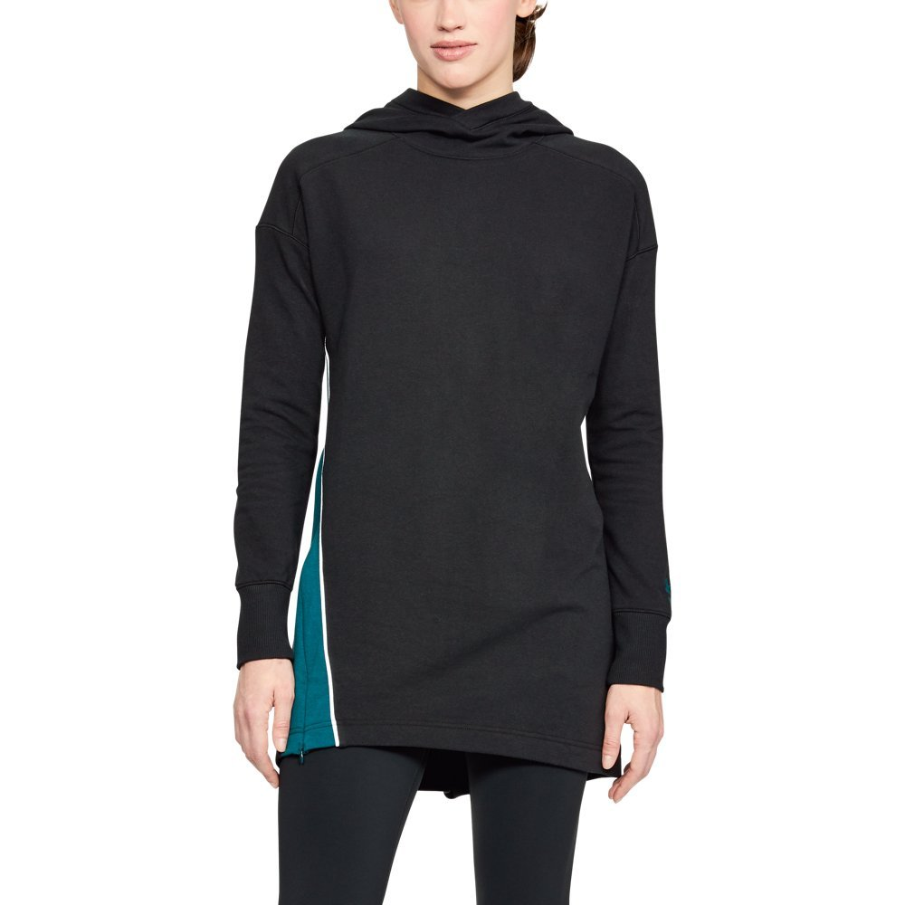 "Ultra-soft, mid-weight cotton-blend fleece with brushed interior for extra warmth  Drapey, extended length for ultimate coverage & comfort  10"" right side zip for added breathability & mobility when you need it  Ribbed cuffs  Foldover hood & hem detail - $65.00"