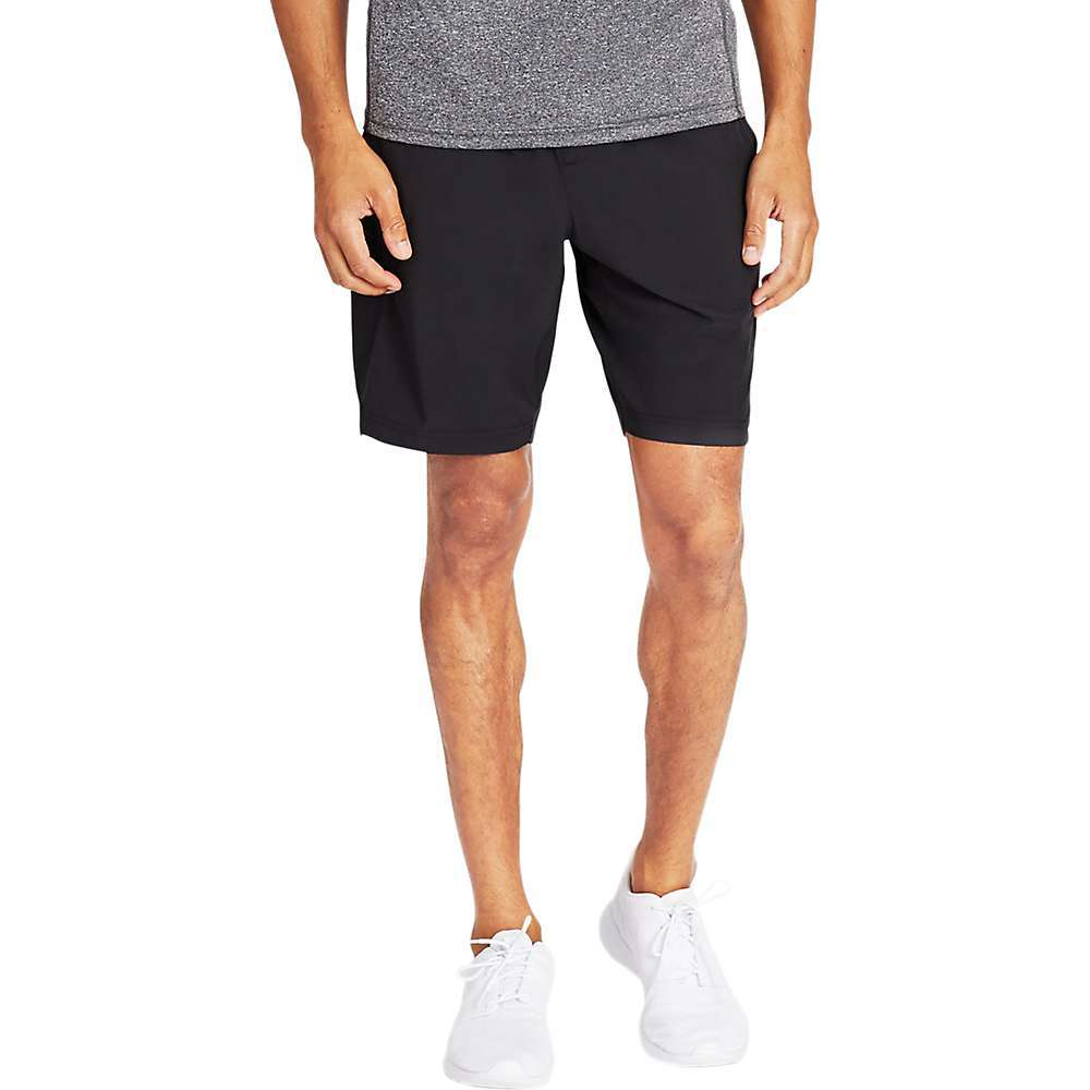 Features of the Bonobos Men's 9IN Gym Short - No Liner Sweat-wicking, unlined shorts with 4-way stretch Includes zippered phone pocket, interior key catch, plus reflective details to keep you visible when you're on the move Moisture wicking 4-way stretch fabric Our new in. No Linerin. option for versatility Mesh back yoke panel for extra breathability Invisible zippered pocket at side to secure your phone and additional side pockets for everything else Soft elastic at interior waistband for added comfort Side vents for extra mobility Reflectivity at back yoke, exterior locker loop, interior drawcord and exterior logo - $67.95