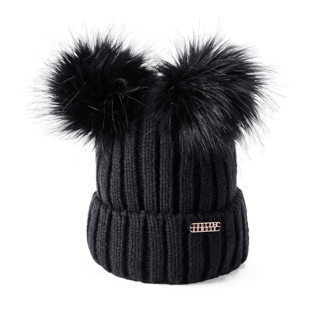 ff76d18ac16ae Under Armour Womens LV Cortina Double Pom Beanie -  40.00 - Thrill On