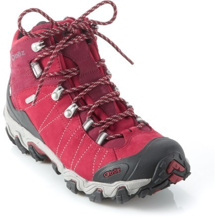 Camp and Hike Pairing classic style with modern tech, the Oboz Bridger Mid BDry hiking boots offer the best of both worlds. The all-leather uppers are waterproof and breathable, and the deep lugs give serious grip. - $180.00