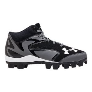 Sports Start with our toughest leather for stability & our ArmourBoundA(R) cushioning for shock-absorption. Follow that up with our Rotational Traction cleat configuration, to make every step explosive. It's what you need, every inning. Under ArmourA(R) is the Official Performance Footwear Supplier of MLBEngineered nubuck & perforated patent leather upper balances durability with comfort & breathabilityAbrasion-resistant forefoot offers protection & durability for medial toe dragFull-length ArmourBoundA(R) midsole cushions, absorbs shock & spreads force over entire shoeRotational Traction technology optimizes rotational capability for explosive acceleration & powerImported - $26.99