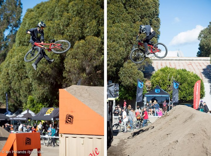 MTB Cam McCaul whipping on and threeing off... © Ian Hylands 2012