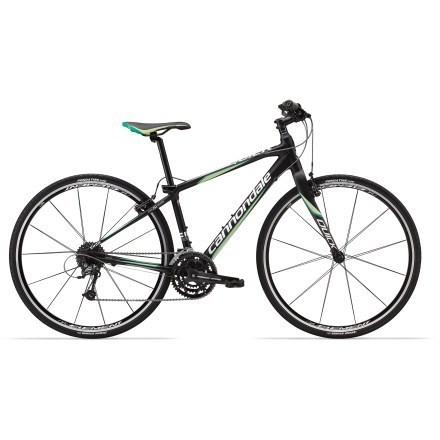 "With a refined, lightweight ""SL"" frame, the women's Cannondale Quick SL 3 bike features a speedy hybrid design for getting outside and putting in some miles in a comfortable, upright riding position. - $849.00"