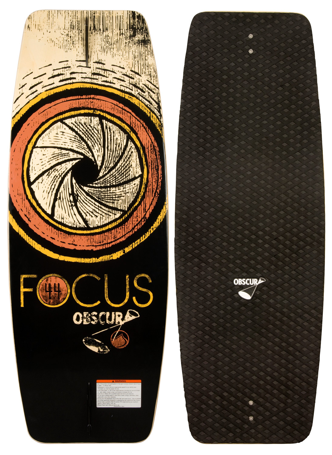 Wake The brand new FOCUS is the perfect wake skate to learn and progress on. This value priced skate features a newly designed, super forgiving and stable outline, and a new EVA Deck pad to help you learn the basics and guide you along. If you are new to wake skating or just looking to get your first deck, there is no better board to start your skate journey on than the FOCUS!Key Features of the Liquid Force Focus Wakeskate 42in:  Updated for 2014!  New and improved EVA Deck  Progressive 3-Stage Rocker  Single concave  Wood Construction  Newly updated Symmetrical  Outline  Constant Rail Edge - $79.95