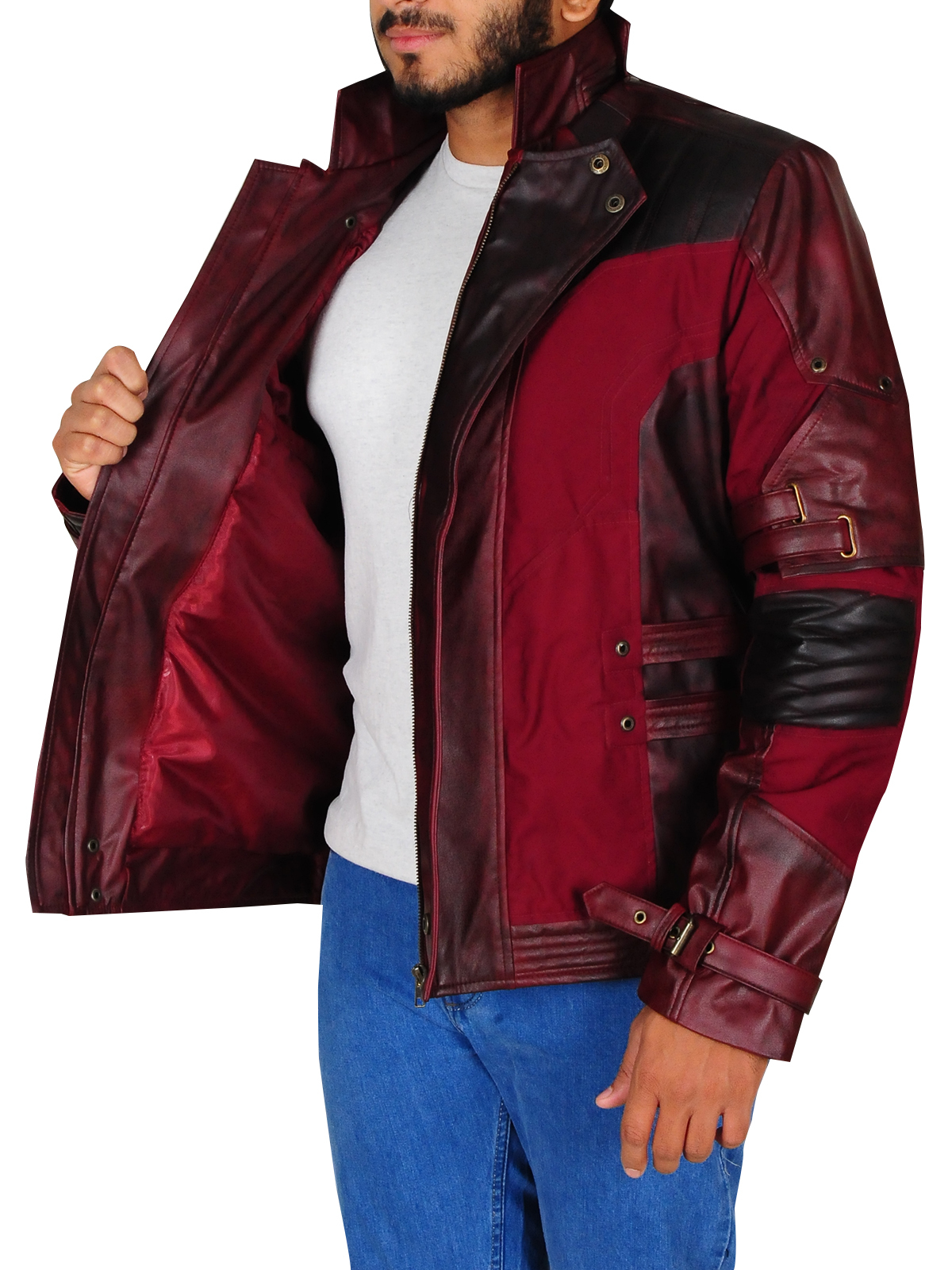 Motorsports Star Lord Cosplay Leather Jacket