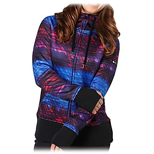 Ski Roxy Easy Rider Womens Hoodie - The Easy Rider Fleece by Roxy is yet another adorable hoodie to add to your collection. The colors pop as you wear it alone or layer it under your jacket as an additional layer of warmth. The length sits perfect to keep your backside protected, warm and covered. The Easy Rider Hoodie is made of Polyester Jersey Knit which is so soft on the inside, you won't want to take it off. The thumbholes at the cuff keeps everything smooth and doesn't allow the cold air to sneak in around your wrists, you will be toasty warm and comfy. Features: Regular fit. Model Year: 2014, GTIN: 0887170921249, Model Number: ARJFT00197-PRC7 S, Shipping Restriction: This item is not available for shipment outside of the United States., Product ID: 328029, Water Resistant: No, Sleeve Type: Long Sleeve, Wicking Properties: No, Material: Synthetic, Type: Hoodie, Wind Protection: No, Closure Type: Full Zip Top, Battery Heated: No, Warranty: Other, Material: Polyester jersey knit - $19.98