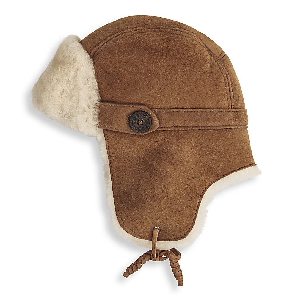 Ski UGG Australia Belted Bailey Trapper Womens Hat - The UGG Australia Belted Bailey Trapper Hat will keep you warm and cozy when the temperature drops. The super soft fleece lining will keep your ears protected from those harsh winds while the suede tie closure will keep your hat snug and comfortable. This classic trapper hat has been updated to give it a city look with the button detail and shearling accents. Whether you're running errands in town or just heading out with your friends, you'll be sure to look stylish in the UGG Australia Belted Bailey Trapper Hat. . Product ID: 330303, Model Number: 11118 615, GTIN: 0098617219366, Model Year: 2014, Type: Earflap, Lined: Yes, Material: Fleece, Battery Heated: No, Warranty: One Year - $134.92