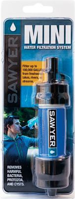 Camp and Hike Sawyers Mini Water Filter is ideal for outdoor recreation, hiking, camping, scouting, domestic and international travel and emergency preparedness. This high-performance filter fits in the palm of your hand, weighs 2 oz. and filters up to 100,000 gal. (30 times more than comparable filters). Attach it to the included drinking pouch, standard disposable water bottles and hydration packs or use the straw to drink directly from a water source. Colors:Green, Pink, Orange, Blue. Color: Orange. Type: Filters. - $24.99
