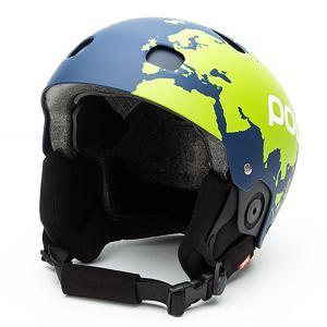 Ski POC Sinuse SL Axel Back Helmet - The Sinuse SL Axel Back Race Ski Helmet is a perfectly designed slalom helmet. Done up with Axel Back's world cup graphics you can charge the gates while representing the best young slalom skier in the world. This adult POC helmet is equipped with a special double shell system that provides full ventilation and protection from penetration. With this helmet, you have the option of keeping the vents open or closing them. This happens with an EVA insert. The chin bar included with the helmet is recommended for extra safety purposes but can easily be detached and quickly adjusted. The Sinuse SL Axel Back Race Ski helmet offers a clean design with a modern look. Fun colors will make this helmet stand out among the rest. This is a durable helmet so it can withstand the rigors of an active slalom racer. . Certifications: EN 1077/ASTM 2040, Warranty: One Year, Special Features: Adjustable and Removable Chin Bar, Race: Yes, Category: Half Shell, Audio: Not Compatible, Brim/Visor: No, Ventilation: Adjustable, Adjustability: None, Year Round Capable: No, Shell Construction: Hard Shell, Model Year: 2014, Product ID: 323494, Model Number: 10481 186 M/L, GTIN: 7332522883803 - $119.95