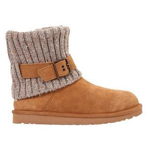 Ski UGG Australia Cambridge Womens Boots - The Cambridge Boot by UGG Australia is so comfy it's like pulling on your favorite sweater only for your feet. Lined with luxurious sheepskin, your feet will stay cozy and warm all day. Sheepskin naturally wicks moisture away from your skin keeping you dry and comfortable. Thanks to the foam insole, your feet will feel comfort in every step while the EVA outsole provides flexibility and durability on a variety of surfaces. This casual boot features a knit collar that can be worn up or down giving you two style options and an adjustable strap that allows you to customize your fit. The suede upper and heel guard along with the knit collar give this boot a relaxed feel. Whether you are meeting your girlfriends for lunch or just hanging around the house on a cold day, your feet will be wrapped in warmth and style in UGG Australia's Cambridge Boots. Features: Foam Insole, EVA Outsole. GTIN: 0887278265023, Model Number: 1003175 CHE 6, Product ID: 336180, Model Year: 2015, Sole Material: EVA Outsole, Insulated: No, Type: Boot, Material: Suede Upper, Knit Collar, Waterproof: No, Warranty: One Year - $119.93