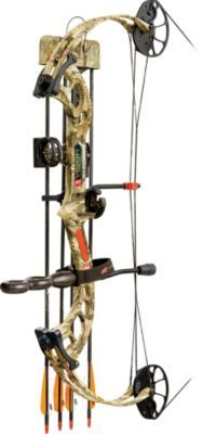 PSE packed the performance archers of all ages need for a successful hunt into their Vision RTS Bow. The Visions fully adjustable draw length and weight make it shootable by archers of all sizes youth to adult. Adjust the draw weight from 12 to 70 lbs. and the draw length anywhere from 12 to 30. Its 7 brace height enables it to fire arrows up to 306 fps. 70% let-off. 33 axle-to-axle. Sting Stop string suppressor reduces vibration and unwanted noise. Slim and comfortable Raptor Grip. Available in right- and left-hand models. Camo pattern: Mossy Oak Break-Up Infinity. PSE Vision RTS Bow Package includes: Bow, Gemini sight, Whisker Biscuit rest, Flexxtech 2 stabilizer, Shadow Quiver, PSE neoprene sling, peep sight and nock loop. Color: Camouflage Infinity. Type: Bow Packages. - $259.88