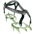 The lightest 12-point strap-on crampons in the world! Perfect for glacier travel and general mountaineering. Thermoplastic heel and toe harnesses wrap around nearly any hiking and classic mountaineering boot and are secured by strong nylon straps. While sturdy, aluminum crampons are not suitable for ice climbing or intensive mixed terrain. For telemark or AT boots, use the XLC 390 with automatic bindings (348). Features: a   World's lightest 12-point strap-on crampons! a   3-D shaped frame maximizes strength and performance a   Universal bindings fit most mountaineering and hiking boots a   Wear indicators on the side points show when it is time for replacement - $149.95