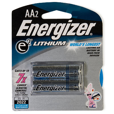 Lightweight complex carbs for your electronics. These lithium batteries are compatible with devices that use AA batteries. - $6.50