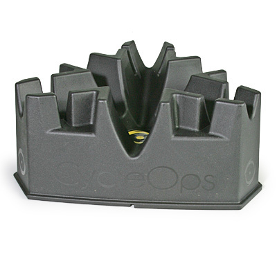 Get the most out of your cycling trainer with a climbing riser block. Depending on the position, this block can give you four different difficulty levels. Just the thing to break up the monotony of training indoors. - $29.99