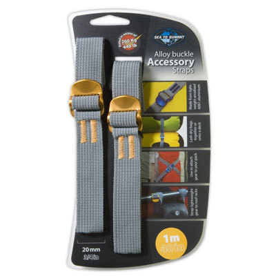 Perhaps the most versatile piece of equipment you can carry, the Sea to Summit Accessory straps hold on, cinch down, and keep everything together. - $8.95
