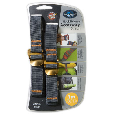 Perhaps the most versatile piece of equipment you can carry, the Sea to Summit Accessory straps hold on, cinch down, and keep everything together. - $9.95