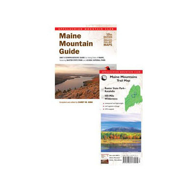 Camp and Hike For over 50 years, AMC's Maine Mountain Guide has been the trusted resource for the state's hikers. This new edition has been thoroughly revised and updated, featuring 200 new trails, expanded coverage of Baxter State Park and Acadia National Park, and five new in-text maps, plus pull-out paper topo maps. - $23.95