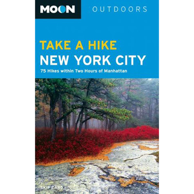 Camp and Hike Need to get out of the city this weekend? Pick up a copy of Take a Hike New York City: 80 Hikes within 2 Hours of Manhattan, by Skip Card, and start planning! This guidebook is sure to please everyone, with trails ranging from short, flat, family-friendly strolls to steep, full-day treks for more advanced hikers. - $16.95