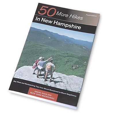 Camp and Hike The trails in this classic collection by Daniel Doan and Ruth Doan MacDougall extend from the Massachusetts border to beyond the northern reaches of the White Mountains.  With information about leisurely nature walks, climbing rugged peaks, day hikes and extended backpacking trips, this guide can be used by hikers of all levels of experience. - $16.95