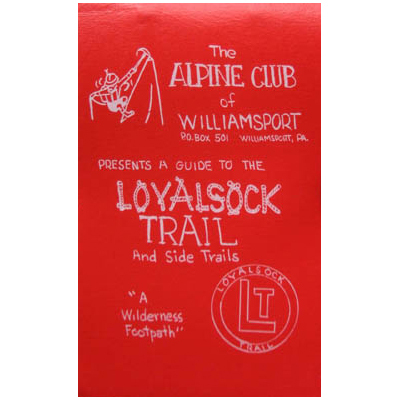 Camp and Hike The Alpine Club of Williamsport's A Guide to the Loyalsock Trail and Side Trails includes a pocket-sized guidebook and three topo maps to lead you through Pennsylvania's Loyalsock State Forest. Whether you want to just hike a few sections or complete the whole 59-mile trail, this book and map set will help plan and guide your trip. - $24.95