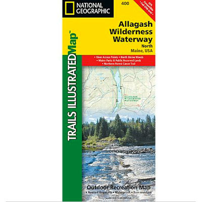Camp and Hike National Geographic's recreational maps of the Allagash Wilderness Waterway are two-sided, waterproof maps designed to meet the needs of outdoor enthusiasts and tourists alike. - $11.95
