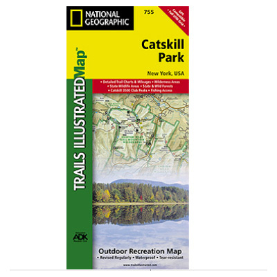 Camp and Hike National Geographic's recreational map of Catskill Park is a two-sided, waterproof map designed to meet the needs of outdoor enthusiasts with unmatched durability and detail. - $11.95