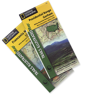 This pack makes the most comprehensive and complete recreational maps for the White Mountains of New Hampshire - $19.95
