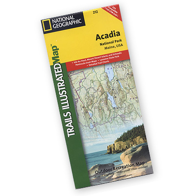 National Geographic's Trails Illustrated topographical maps, based on USGS information, are designed to take you into the wilderness and back. This is the most comprehensive recreational map for Acadia National Park, located along the beautiful Atlantic coast in Maine. - $11.95