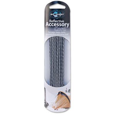 This strong, lightweight Sea to Summit Reflective Accessory Cord has many uses, such as guying out tarps or tents and hanging laundry at the campsite (or in your living room). - $9.95