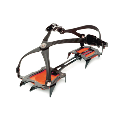 With its easy ratchet-buckle binding, the 10-point, Hillsound Trail Pro Crampon is ideal for glacier travel and icy or snowy approaches. - $79.00