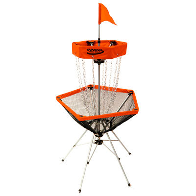 Sports Lightweight, portable, and easy to set up and break down, Innova Disc Golf's DISCatcher Traveler Portable Target is the perfect accompaniment for all of your disc golf expeditions, whether at the beach, park, or in your backyard. - $149.00