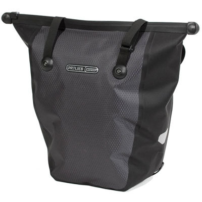 Ideal for daily grocery shopping and other errands around town, the Ortlieb Bike-Shopper Front Pannier is lightweight, easy to attach to your bike, comfortable to carry, and ensures that everything inside makes it home safely (no more plastic bags dangling from your handlebars!). - $100.00