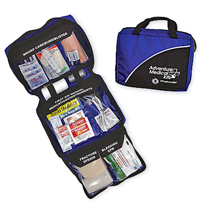 A great kit for the weekend adventurer, this first-aid kit can be used by one person for a one-week adventure or by a group of up to six out for one to two days. - $60.00
