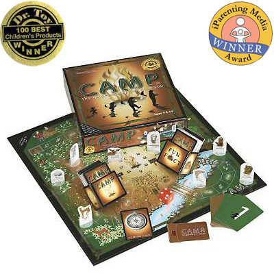 Challenge your Camp mates to get back to CAMP first with fun and educational questions - this board game is suitable for the entire family. - $24.95