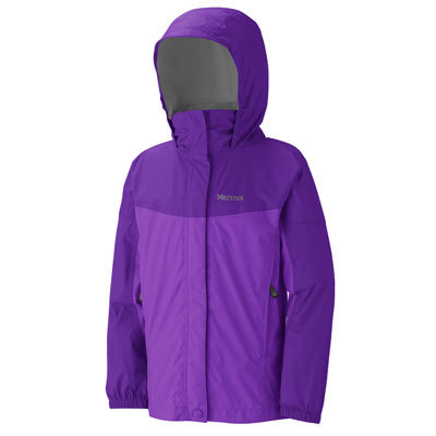 Now more waterproof, more breathable, and more comfortable against the skin, the Marmot PreCip is a lightweight, easy-to-pack jacket that keeps girls dry and comfortable when rain catches them on the trail, in camp, or at the bus stop. - $65.00