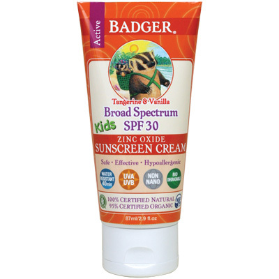 Perfect for the beach, pool, and light activity, Badger Kids SPF 30 Sunscreen Cream is simple, safe, and nourishes your child's skin while providing up to two hours of broad-spectrum UV protection. - $15.95