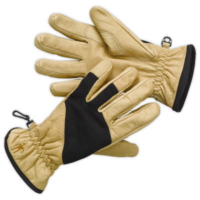 Multi-purpose Ridgeway leather gloves by SmartWool feature double layer thumb and index finger for reinforcement. - $48.73