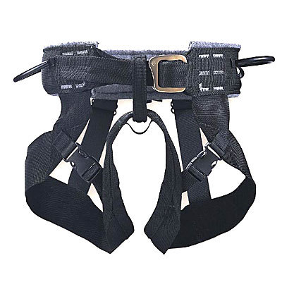 The simple, swami-style Bod Harness from Black Diamond is inexpensive, comfortable, and quite easy to use. - $49.95