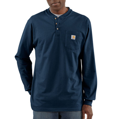 For straightforward comfort and function in cooler temps, Carhartt's Pocket Henley is a hard worker on and off the job. - $17.23