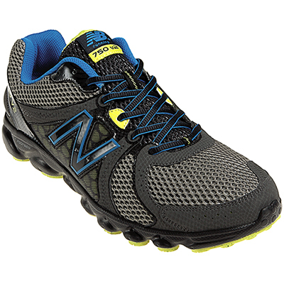 Fitness Make light work of a long haul with the New Balance 750v2, a running shoe that brings flexibility and comfort together into one, great-looking shoe. - $52.46