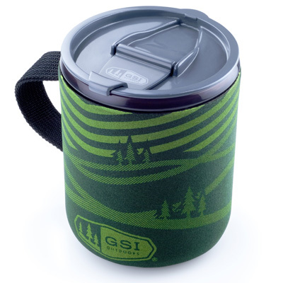 The GSI Infinity Backpacker Mug's insulating sleeve and sealable lid hold in the heat of your coffee, tea, or hot cocoa for hours to keep you warm and your beverage even warmer. - $9.95