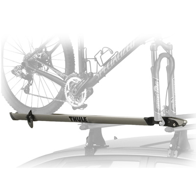 MTB For the ultimate in sleek design and ease of use, Thule's new Echelon fork-mount bike carrier leads the way with an improved clamping system and wheel tray/strap combination. - $179.95
