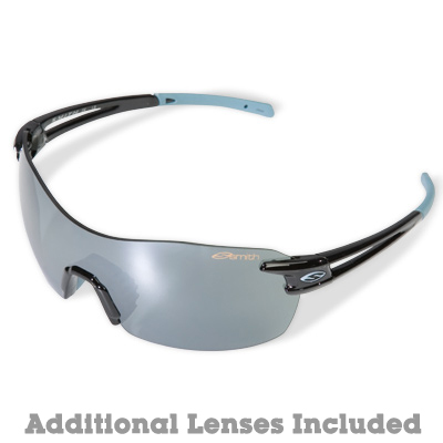 A lightweight rimless sport style with a secure fit, Smith's PivLock V90 Max performance sunglasses include interchangeable lenses that are easy to swap out when light conditions change. - $139.00