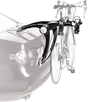 MTB Thule's Raceway is a revolutionary rear-mounted bike rack that combines the premium features of a hitch rack with ease of storage. - $199.96