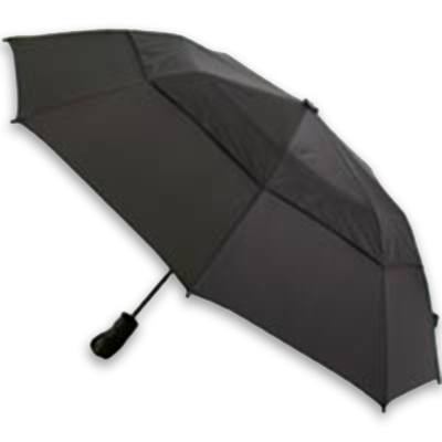 Here's an umbrella that  offers a huge 58-inch arc of water protection and takes windy conditions seriously! The vented WindPro system has been wind-tunnel tested to resist high winds without inversion. - $30.00
